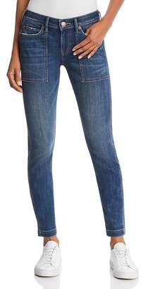 True Religion Halle Mid Rise Utility Skinny Jeans in Wild Gemstone