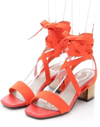 SLY (スライ) - スライ LOW HEEL LACE UP SANDAL