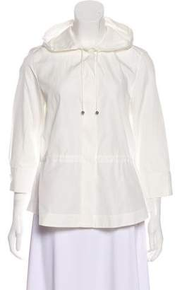 Akris Punto Hooded Button-Up Jacket