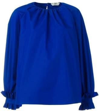 Fendi ruffled oversized blouse