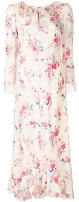 Vilshenko floral print frill hem dress