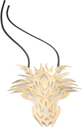Natori Josie Hammered Brass Dragon Head Necklace