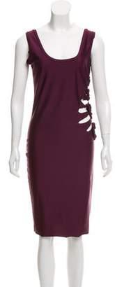 Jean Paul Gaultier Soleil Cutout-Accented Sleeveless Dress