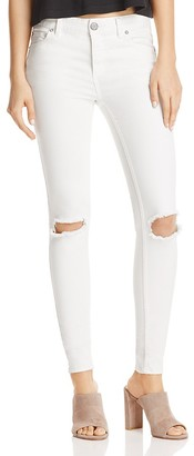 Free People Distressed Skinny Jeans in White $78 thestylecure.com