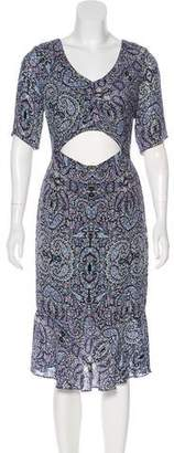 Charlotte Ronson Short Sleeve Midi Dress