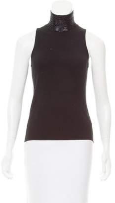Ralph Lauren Embellished Cashmere Top