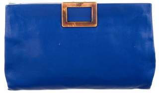 Roger Vivier Grained Leather Clutch