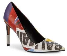 Balmain Printed Leather Pumps
