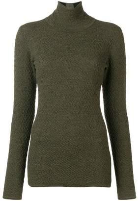 Victoria Beckham textured knit roll neck sweater