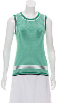 Tory Sport Striped Ribbed Shell