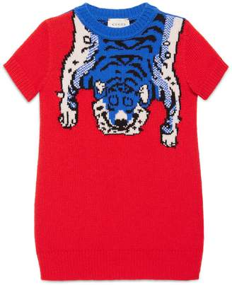 Children's merino dress with tiger $395 thestylecure.com
