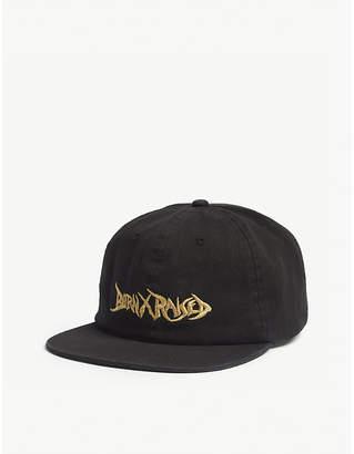 Born X Raised Stoney logo cotton strapback cap