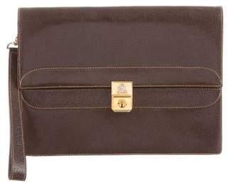 Mark Cross Leather Flap Clutch