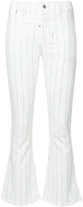 Filles a papa Bella striped crop flare jeans