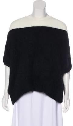 Giambattista Valli Contrasted Angora-Blend Sweater