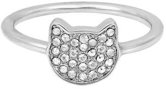 Karl Lagerfeld Silhouette Choupette Ring - Size 8