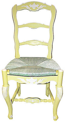 One Kings Lane Vintage French Country Ladderback Chair - House of Charm Antiques