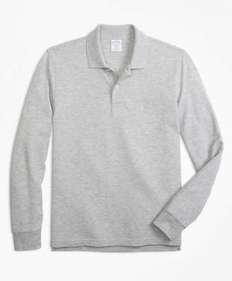 Brooks Brothers Slim Fit Supima Long-Sleeve Performance Polo Shirt
