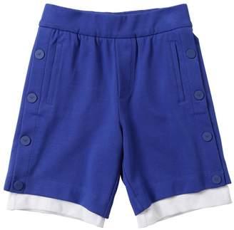 Emporio Armani Mesh & Cotton Sweat Shorts