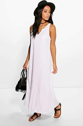 boohoo Melinda Button Front Maxi Dress