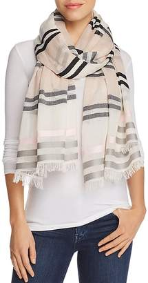 Aqua All Over Stripe Wrap Scarf