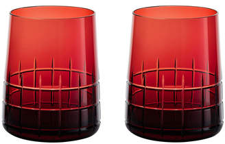 Christofle Graphik Goblets - Set of 2 - Red