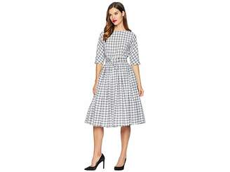 Unique Vintage 1940s Style Sleeved Sally Swing Dress