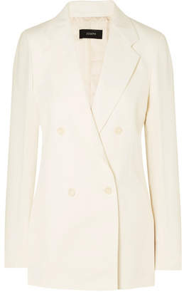 Joseph Bailey Doubled-breasted Ramie And Cotton-blend Twill Blazer - Ecru