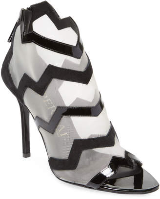 Aperlaï Women's Chevron Open-Toe Sandal