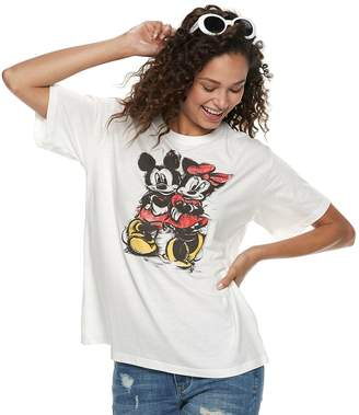 Disney's Mickey Mouse 90th Anniversary Juniors' Mickey & Minnie Mouse Tee