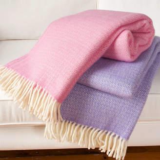 Jodie Byrne Wool Throw Blanket In Pink And Lilac