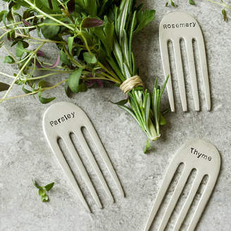 Equipment Spoon Queen Silver Plated Fork Herb Markers