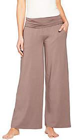 Anybody AnyBody Loungewear Cozy Knit Foldover WaistbandWide Leg Pants