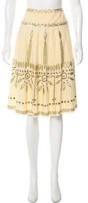 Temperley London Beaded Knee-Length Skirt