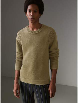 Burberry Link Stitch Detail Cashmere Sweater, Green