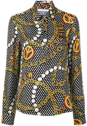 Moschino chains printed loose blouse