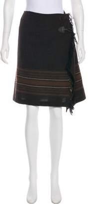 Max Mara Weekend Wool Fringe-Trimmed Skirt