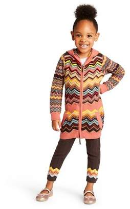 Missoni for Target Toddler Girls' Colore Zig Zag Long Sleeve Hooded Zip-Up Sweater