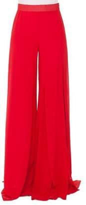 Akris Triple-Layer Wide-Leg Silk Georgette Pants
