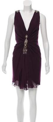 Azzaro Embellished Wool Dress