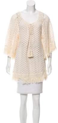 Eberjey Short Sleeve Crochet Top w/ Tags
