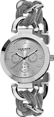 Akribos XXIV Women's Exquisite Multifunction Watch with Mesh Link Bracelet AK564SS