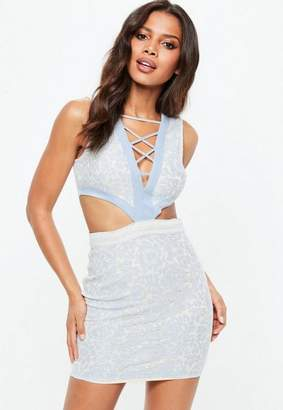 Missguided Lace Cut Out Bodycon Dress