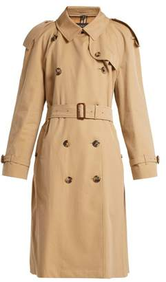 Burberry Westminster Double Breasted Gabardine Trench Coat - Womens - Beige
