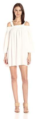KENDALL + KYLIE Women's Frayed Twill Dress,M
