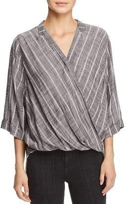 Elan International Cross-Front Stripe Top