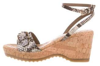 Stella McCartney Embossed Platform Wedges