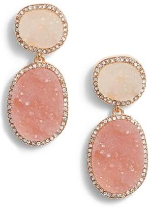 BaubleBar Krystal Faux Drusy Drop Earrings