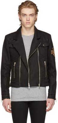 Balmain Black Denim Biker Jacket