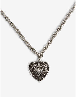 The Kooples Long chain heart pendant necklace